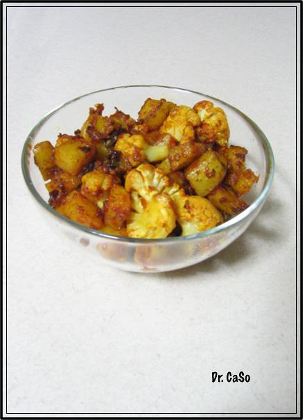 chou-fleur et patates indiennes aufour