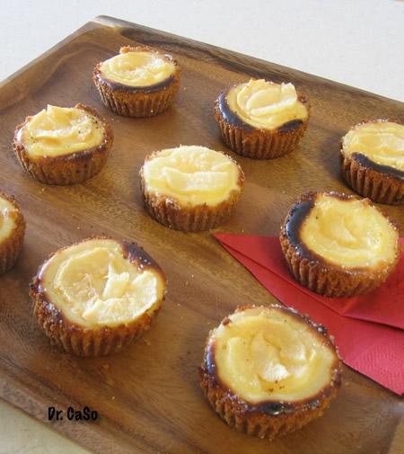 mini-cheesecakes aux poires