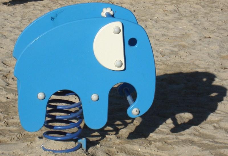 Un éléphant bleu