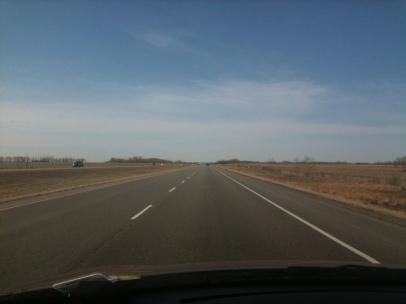 Ce qui est certain, c'est que le printemps n'est pas encore arrivé en Alberta! (photo prise avec mon iPhone)