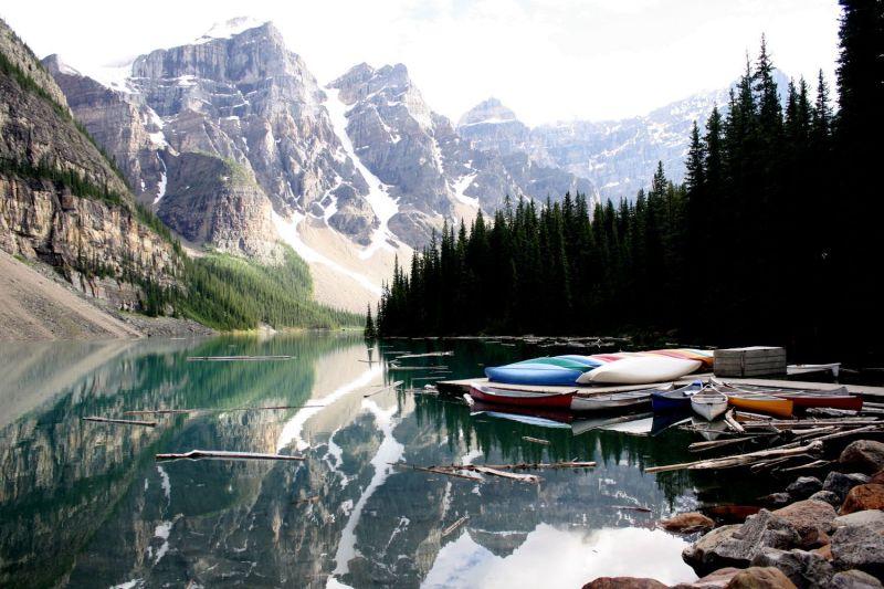 Moraine Lake, Alberta, juillet 2012
