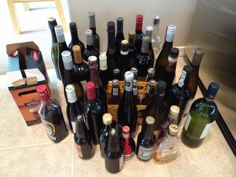 Quelques bouteilles... sans compter celles qui sont dans le frigo...