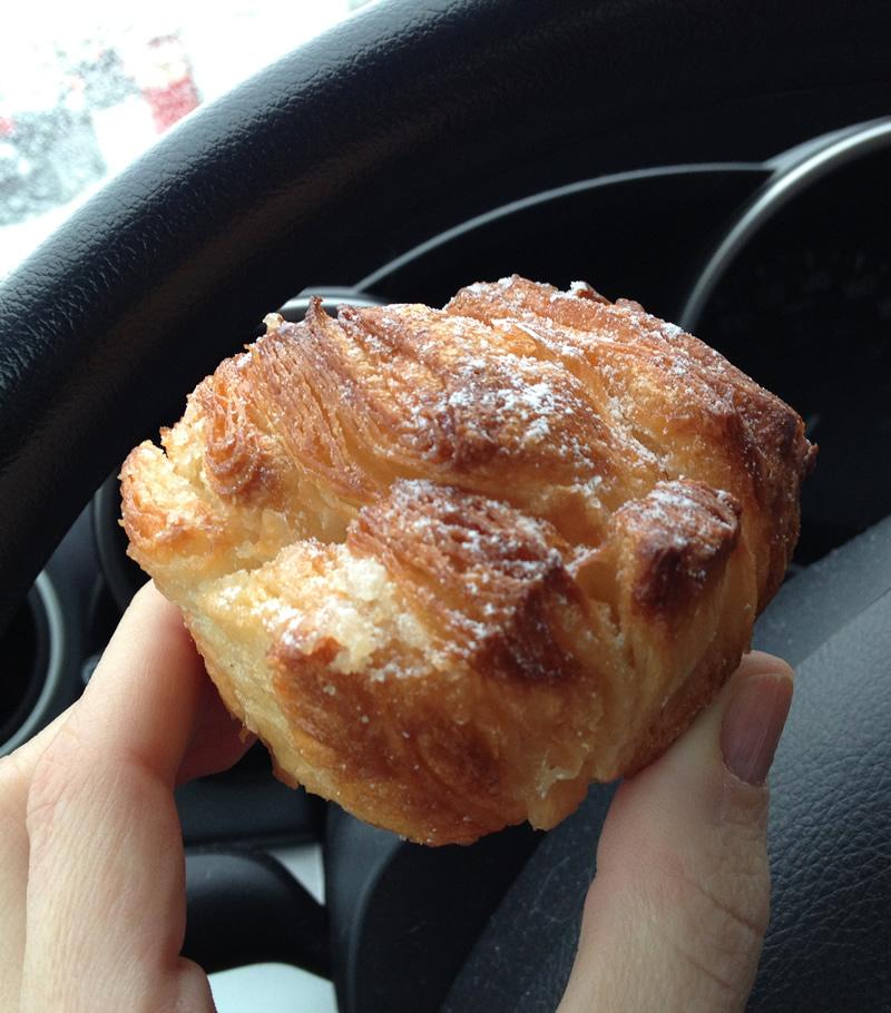 Nouvelle délice au Duchess Bake Shop. Probablement un cousin du Kouign-amann.