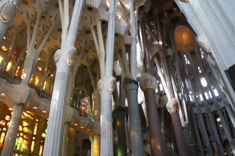 Sagrada Familia, Barcelona, Noël 2013,  on a envie de célébrer le génie de l'homme!