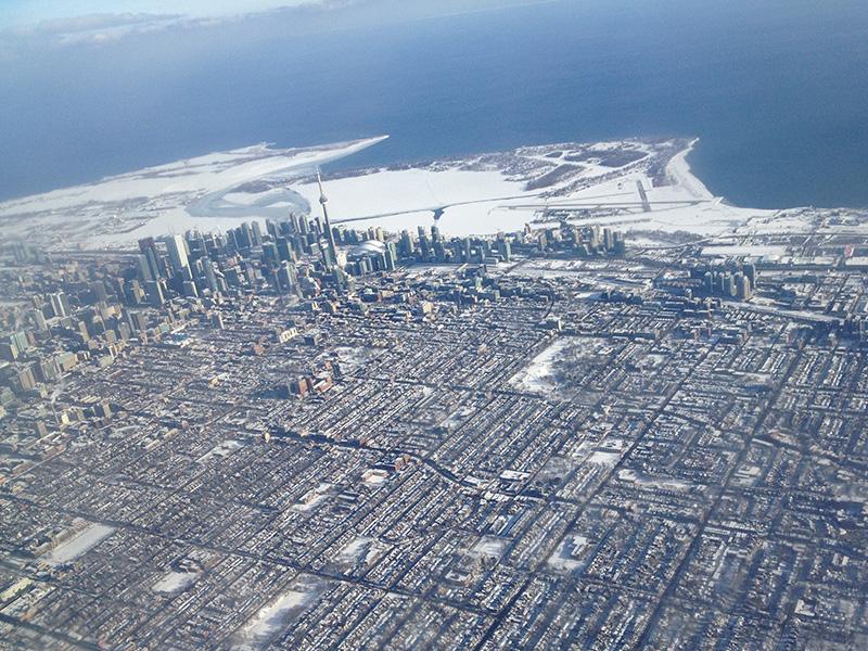 lac gelé à Toronto