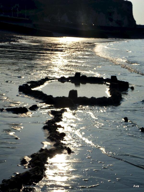 château de sable abandonné