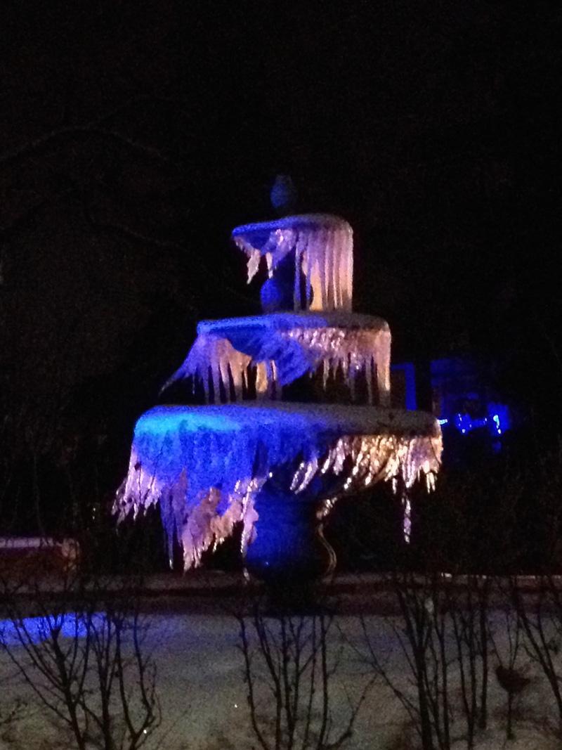 Fontaine de glace de mon voisin!