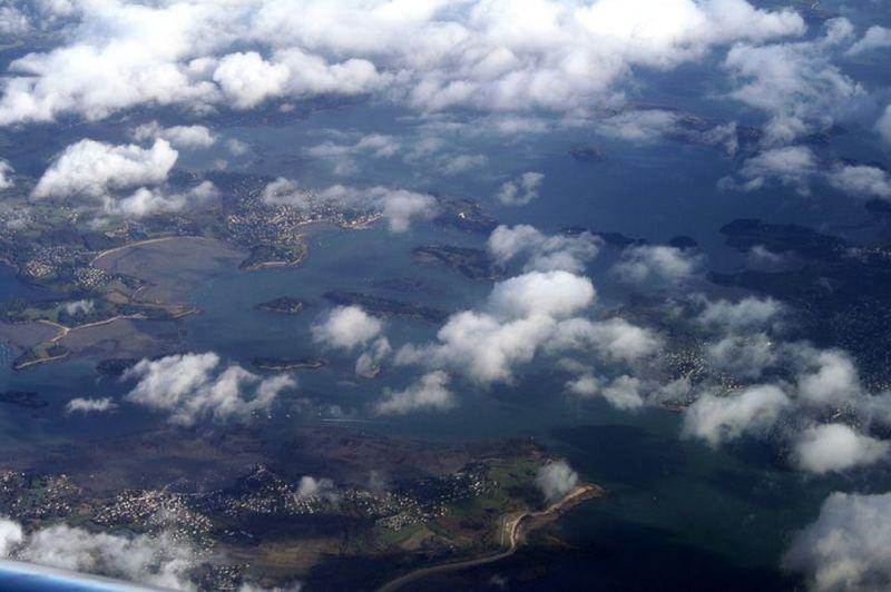 le golfe du Morbihan, Bretagne, vu d'en haut